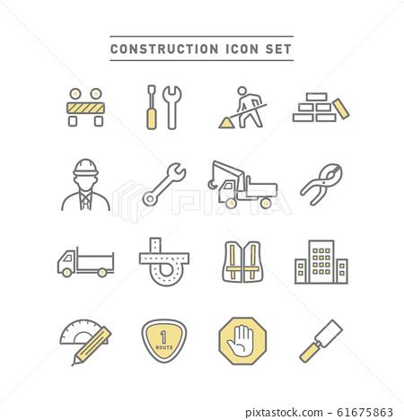 CONSTRUCTION ICON SET 61675863