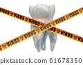 Tooth viruses concept. 3D rendering 61678350