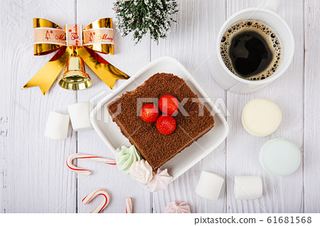 Merry Christmas seasonal concept, Christmas various decorations and gift box elements 109 61681568