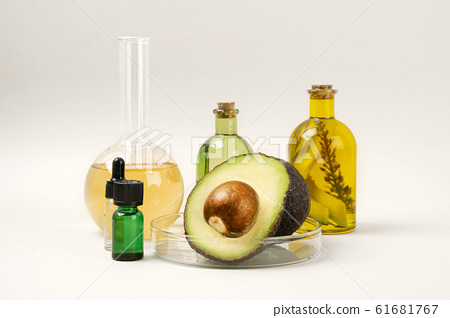 Natural organic concept, Natural haelth and skin care products- pomegranate, lemon, mango and avocado 292 61681767