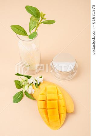 Natural organic concept, Natural haelth and skin care products- pomegranate, lemon, mango and avocado 135 61681878