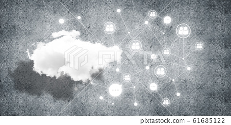 Wireless technologies for connection and sharing data as abstract concept 61685122