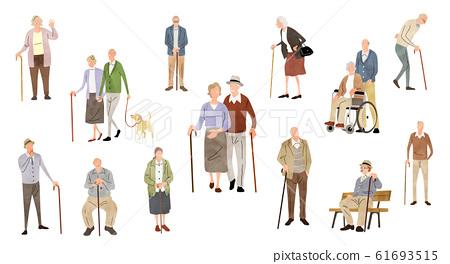 插圖素材:人,老人,生活方式 61693515