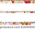 七彩草莓线背景素材 61695600