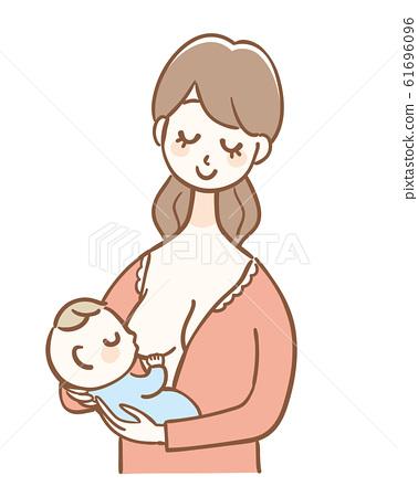 母乳飲料嬰兒 61696096