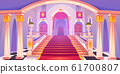 Castle staircase, upward stairs in palace entrance 61700807