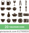 Product icons Tableware Handwriting 20 sets 61700830