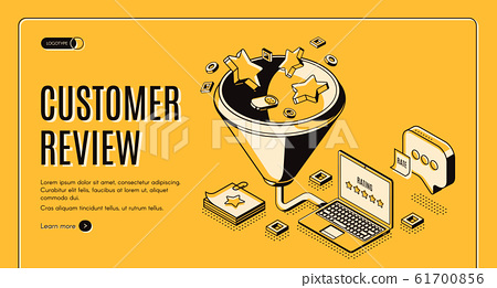 Customer review best result isometric landing page 61700856