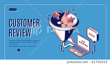 Customer review best result isometric landing page 61700919