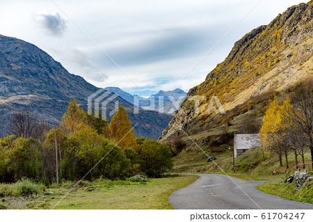 Beautiful landscape of Pyrenees mountains 61704247