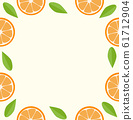 oranges and leaves Seamless background 61712904