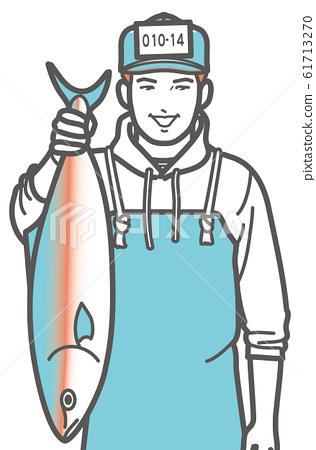 이나 다이있는 생선 가게의 남성 61713270