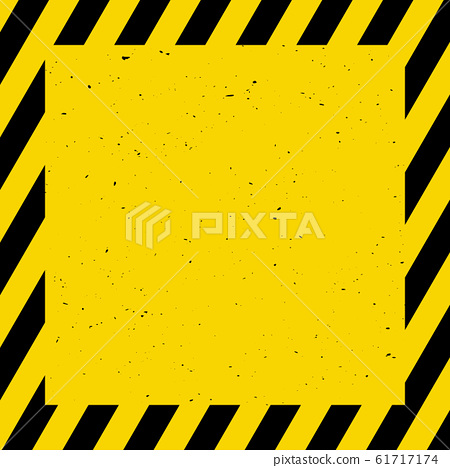 Black and yellow background; warning, caution, 61717174