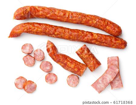 Kabanos Made Of Ham Isolated On White 61718368