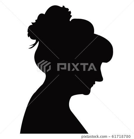 a woman head silhouette vector 61718780