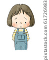 女孩哭泣的臉(黑線) 61726983