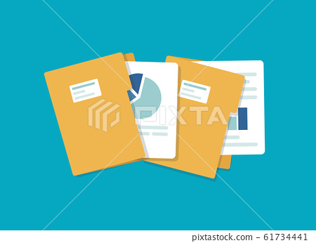 open folder icon. Folder with documents,flat design icon vector illustration 61734441
