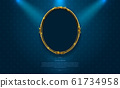gold frame border octagon picture and pattern thai 61734958