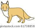 Illustration of a simple fox_11 61738858