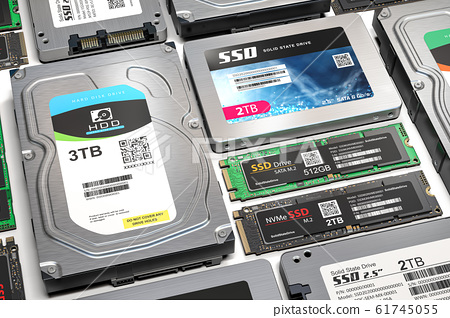 Different data storage devices. 61745055