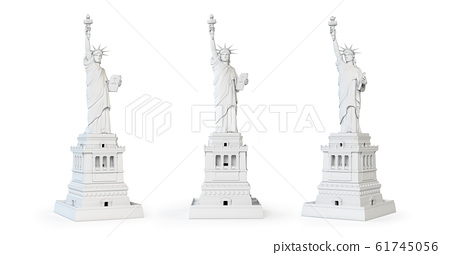 White Statue of liberty isolated. Symbol of NY and 61745056