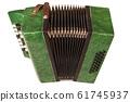 Small children retro bayan (accordion). Folk 61745937
