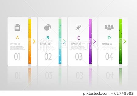 horizontal infographics 4 steps 61748982