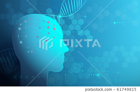 Abstract technology science and DNA human digital binary background. Health care 61749815