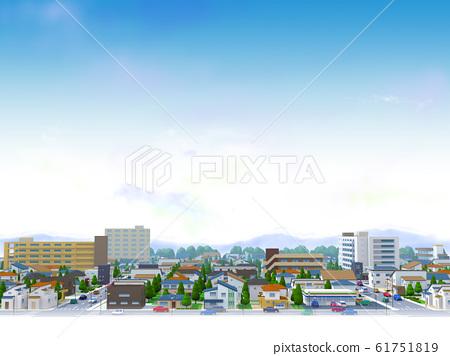 城鎮居住區城市藍天景觀 61751819