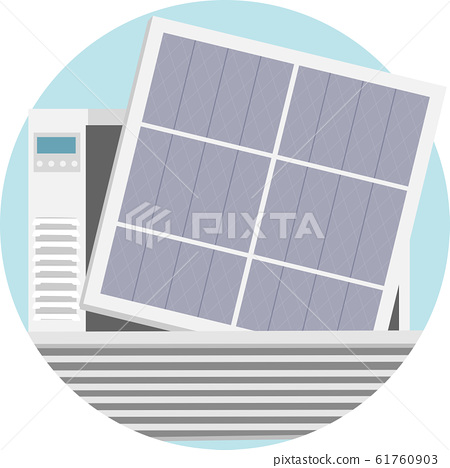 Household Chores Change Aircon Filter Illustration 61760903