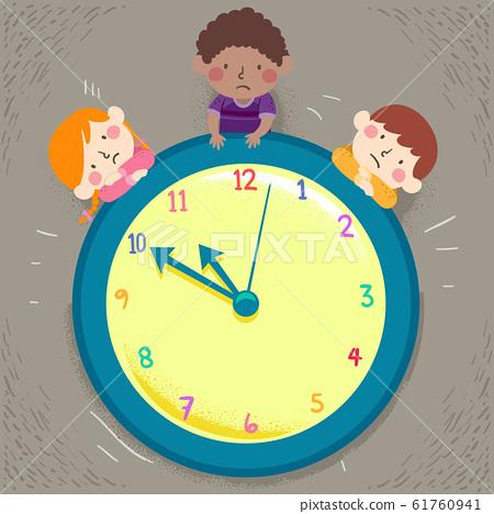 Kids Time Waiting Illustration 61760941