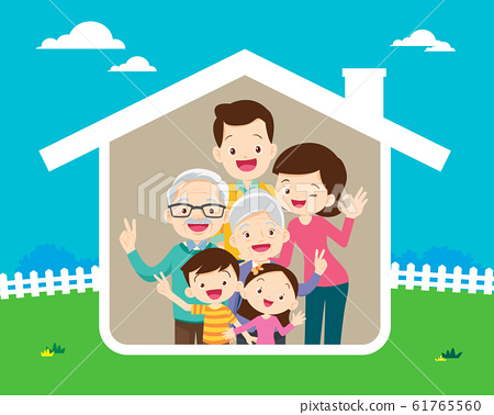 Concept of the home of happy family 61765560