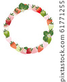 Vertical style A4 background material for letters promotion written with illustrations of strawberries and strawberries flowers and leaves 61771255