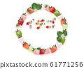Horizontal style A4 background material for text promotion written with illustrations of strawberries and strawberries flowers and leaves 61771256
