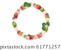 Vertical style A4 background material for letters promotion written with illustrations of strawberries and strawberries flowers and leaves 61771257