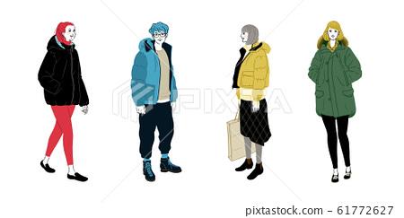 冬季休閒4人套(冬季服裝) 61772627