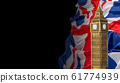 British union jack flag and Big Ben Clock Tower 61774939