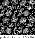 Paisley background. Vintage Seamless pattern with hand drawn Abstract Flowers. 61777164