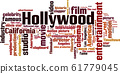 Hollywood word cloud 61779045