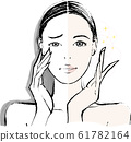 여성 홑겹 눈꺼풀 비포 애프터 61782164