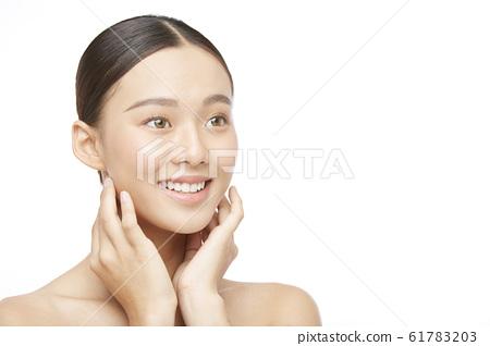 Woman beauty photo on white background 61783203