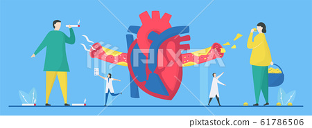 Cardiology vector illustration. This disease is 61786506