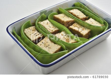 豆子,碗豆,綠色,豆腐 61789030