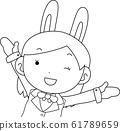 코스프레 애니메이션 캐릭터 오타쿠 만화 귀여운 표정 포즈 희로애락 61789659