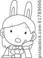 코스프레 애니메이션 캐릭터 오타쿠 만화 귀여운 표정 포즈 희로애락 61789666