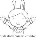 코스프레 애니메이션 캐릭터 오타쿠 만화 귀여운 표정 포즈 희로애락 61789667