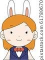 코스프레 애니메이션 캐릭터 오타쿠 만화 귀여운 표정 포즈 희로애락 61789670
