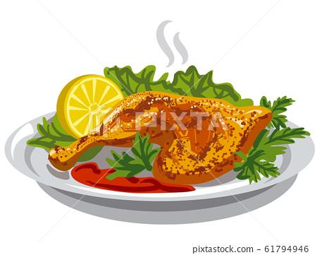 roasted chicken thigh 61794946
