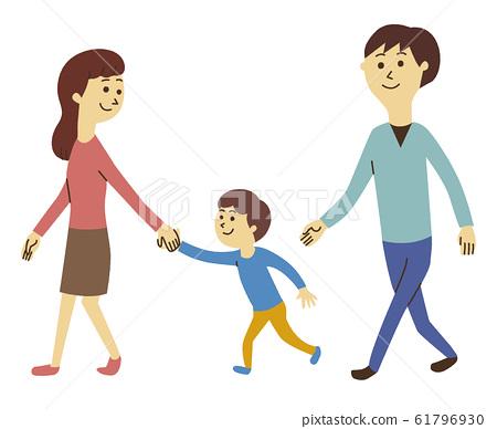 夫妻和男孩 61796930
