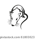 Rat icon. Chinese Zodiac Sign Year of Rat,Red 61803023